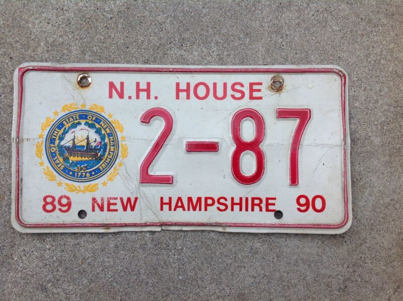 1989 - 1990 NEW HAMPSHIRE - HOUSE OF REPRESENTATIVES - LICENSE PLATE