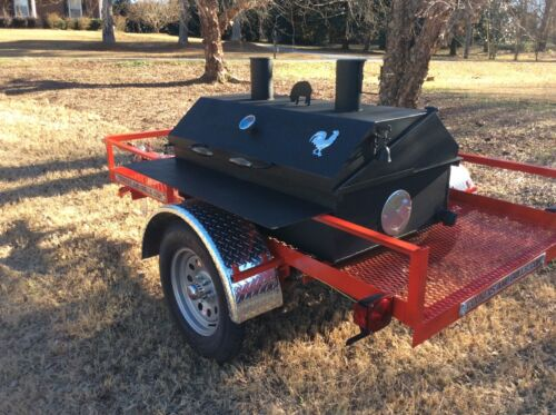 BBQ Pit Charcoal /Wood smoker Trailer mounted BBQ,catering fund raiser