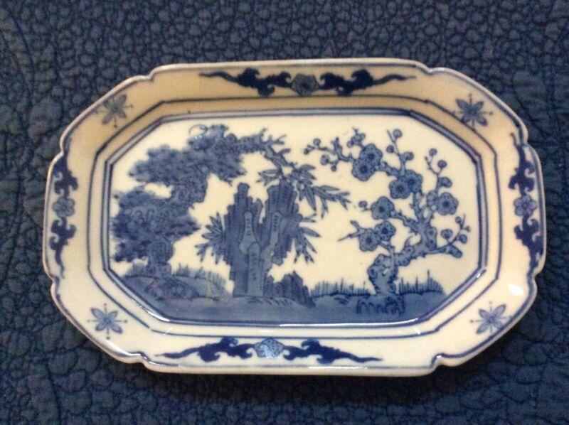 Blue and White porcelain small platter