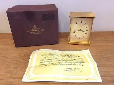 Garrard & Co Ltd PR245 London Quartz Mantle Carriage Clock Swiss Made
