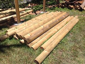 150mm pine core Coppers Logs fencing posts H4 treated 2.4M long Upper Brookfield Brisbane North West Preview