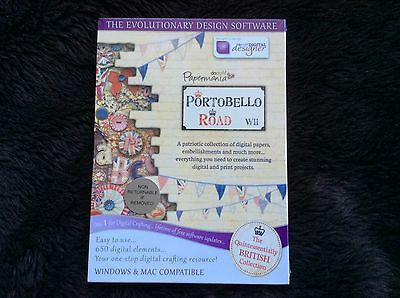 New&Sealed Docrafts DIGITAL DESIGNER PORTOBELLO ROAD CD scrapbooking card making