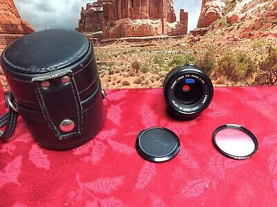 Canon FD 50mm 1:1.4 Camera Lens with Caps, Filter & Case Exc