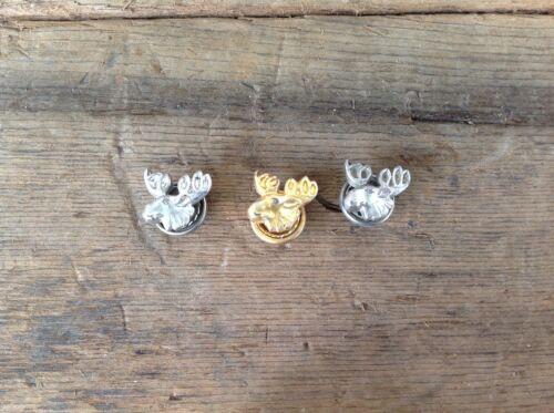3 Fraternal Order of Moose Screw-back Pins