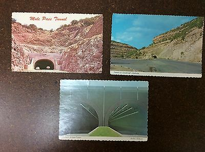 Postcard Lot Collectible Vintage Tunnels Travel Road Ways Hill Sides #4