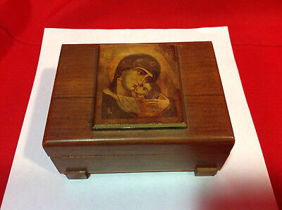 Purple-Velvet-lined Wood Dresser Box for Rings and other Jewelry