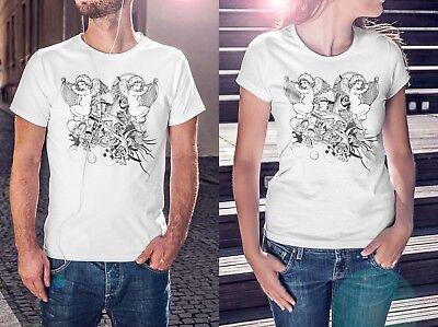 Angels Artwork Male Female T Shirt Gift Personalised Tee Tshirt Garment T127