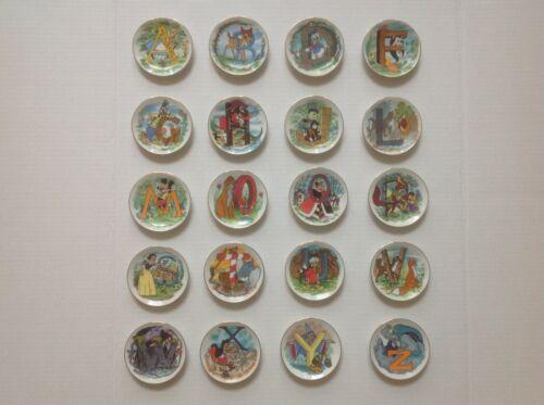 DISNEY ALPHABET Collector Plates Mini  B F G H L M Q T U W