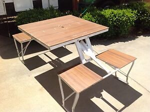 Folding picnic table and chairs Trevallyn West Tamar Preview
