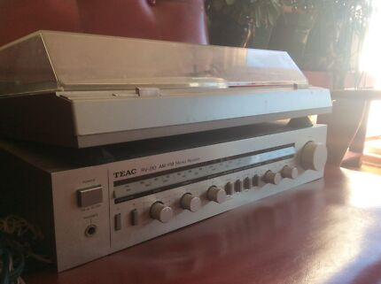 TEAC vintage Record Player and AM/FM Stereo Receiver Amp