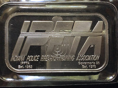 2007 Indiana Police Firearms Training Association Ipfta Silver Art Bar A4643