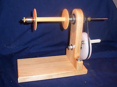 Wooden Bobbin Winder, for Larger Bobbins & Spools - Hard Maple