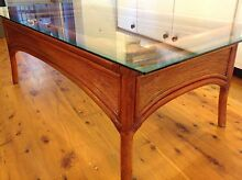 COFFEE TABLE WITH GLASS TOP. STABLE. NO WOBBLE. Woollahra Eastern Suburbs Preview