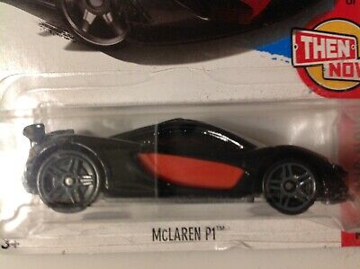 Hot Wheels 1/64 MCLAREN P1 black/red;gray #363 THEN AND NOW 2017 case Q 2018