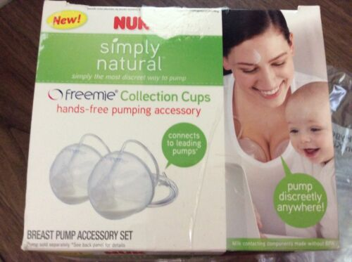 Baby Infant Breast Feeding Pumping Accessory Hands-free Freemie Collection Cups