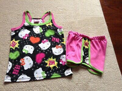 Girls Hello Kitty 2 piece pjs tank shorts size 7/8(NWOT)](Hello Kitty Girls Pajamas)