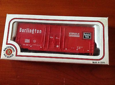 Ho Scale, Bachmann Electric Trains, 41' Hi-Cube Box Smooth, Burlington 76036