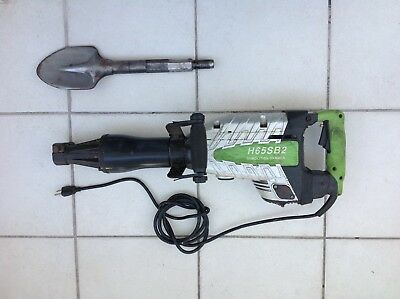 H65 1-18 Hex Shank Demolition Hammer 1500w 2100rpmin Wshovel Bit Included