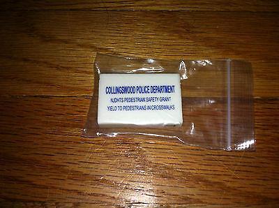 For sale Vintage eraser Collingswood New Jersey Police Department Officer Policeman Cop