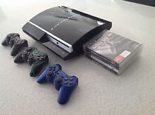 Playstation 3 w/Games + 3 Controllers + Cables Bedford Bayswater Area Preview