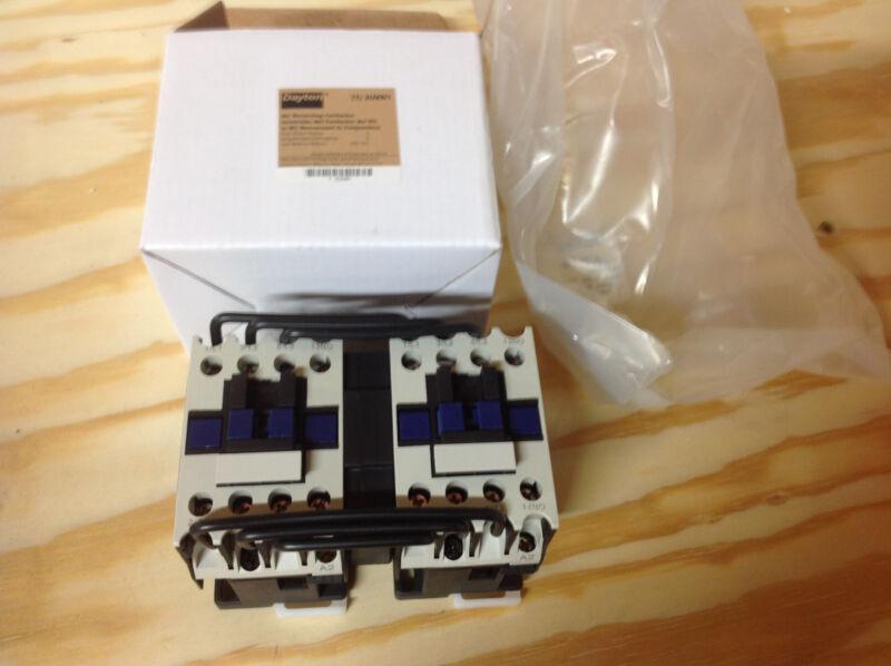 Dayton 2UXN1  IEC Reversing Contactor, 240VAC, 9A, Open, 3P, NEW IN BOX