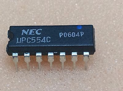 1 PC UPC554C NEC DIP14 NOS BP
