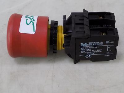 Klockner Moeller Red E-stop Button Aux Contact A 600 Q300 Ek01 Pzf