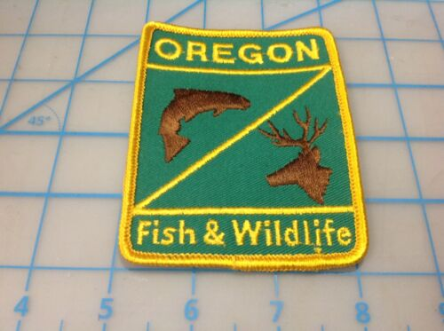 OREGON Fish & Wildlife  Embroidered Patch (O)