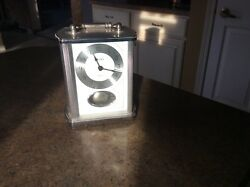 Bulova Pendulum Chrome Carriage Clock, Carrington B1379