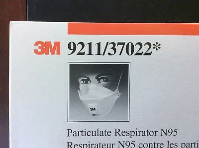 3m 9211 Particulate N95 Respirator Mask Filter Valve 10 Per Box Camp Fire Smoke