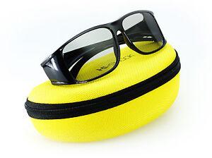 Hi-SHOCK® passive 3D-Brille für 4k TV / Kino / Heimkino mit RealD Tech.   + Etui