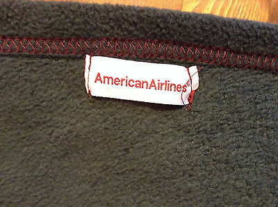 American Airlines Gray Fleece Throw Blanket