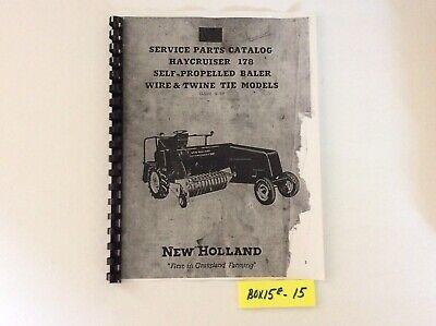 New Holland Hayliner 178 Self Propelled Baler Service Parts Catalog Manual