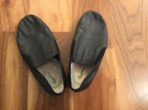 Girls Black Jazz Shoes Size 12 for Sale