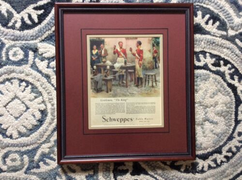 Schweppes Table Water framed print