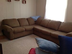 Large Brown Sectional Couch $75