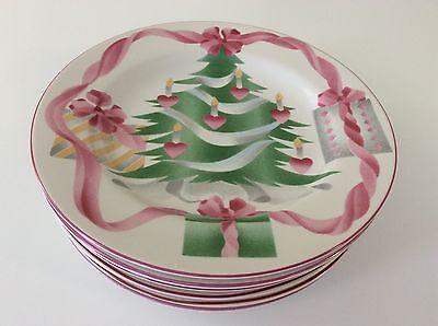 """Sango Home For Christmas Lot of 6 Salad / Dessert Plates 7 3/4"""""""