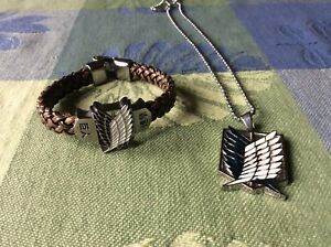 Attack on Titan bracelet and necklace