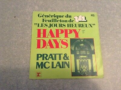 Disque vinyle 45 tours B2 /happy days