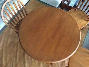 90cm wooden table and 4 chairs Chatswood Willoughby Area Preview