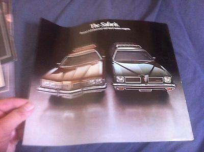 1973 Pontiac Safari Station Wagons Color Brochure Catalog Prospekt