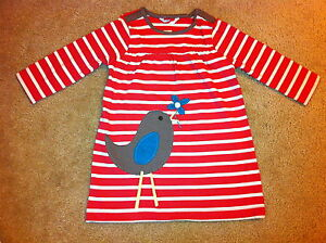 BABY GIRLS X MINI BODEN APPLIQUE DRESS 0 3 6 9 12 18 24 2 3 4 YRS MOUSE BIRD
