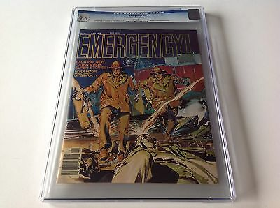 EMERGENCY 1 CGC 9.6 WHITE PAGES NEAL ADAMS COVER AND ART TV CHARLTON MAGAZINE