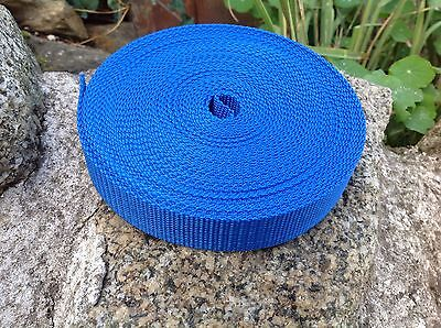 Royal Blue Tape (Royal Blue 25mm Webbing Tape Textured Weave x 10M)