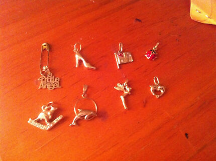 8x GENUINE 9 Carat Charms. Brand New Bayswater Bayswater Area Preview