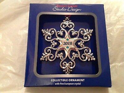 NEW STUDIO DESIGN regent square  new 2018 ornament silver snowflake ()