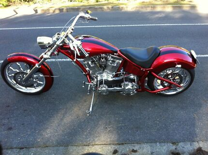 Harley Davidson Custom Chopper Adelaide CBD Adelaide City Preview