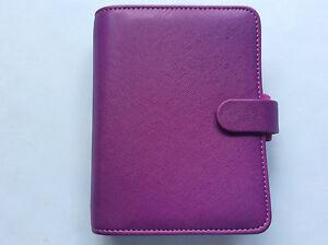 Filofax Pocket Saffiano Raspberry