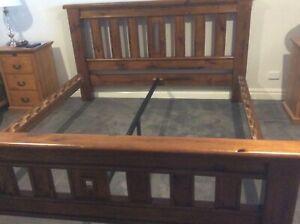 Hardwood king bed frame for sale