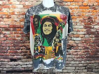 Bob Marley-tie Dye (Vintage Bob Marley Tie Dye Mosquitohead Tee Shirt Size XL (113))